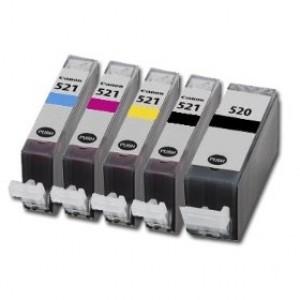 Canon CLI-521 Bk,C,M,Y + PGI-520Bk multipack - kompatibilní