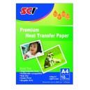 SCI T-shirt Transfer Paper A4, 10 listů, nažehlovací papír na bílá trička